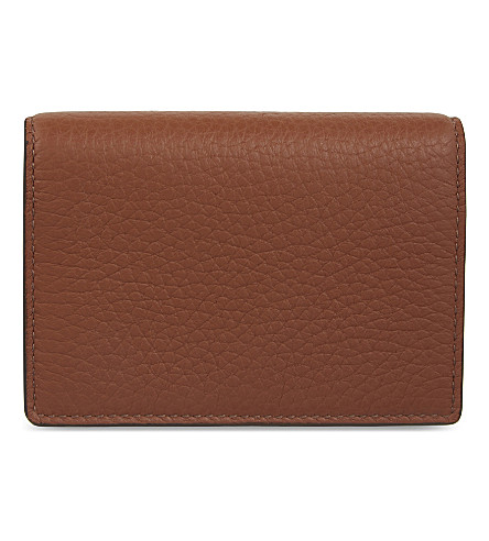 SMYTHSON Burlington leather card case