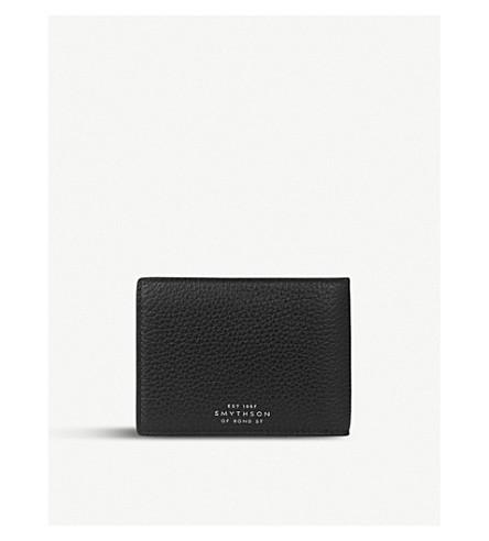 SMYTHSON Burlington leather multi currency wallet (Black
