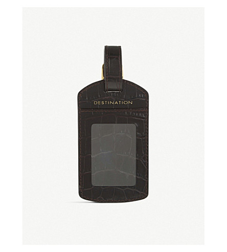 SMYTHSON Mara leather luggage tag