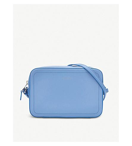 SMYTHSON Panama leather crossbody bag (Nile+blue