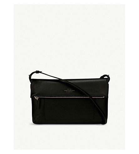 SMYTHSON Panama leather cross-body bag (Black