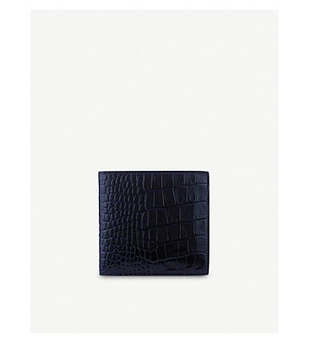 SMYTHSON Mara 8 card leather wallet (Navy