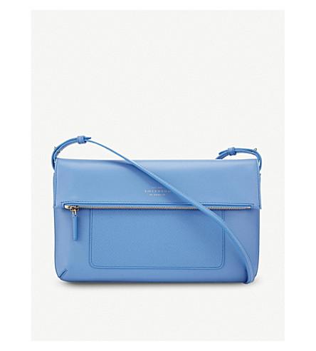 SMYTHSON Panama leather cross-body bag (Nile+blue