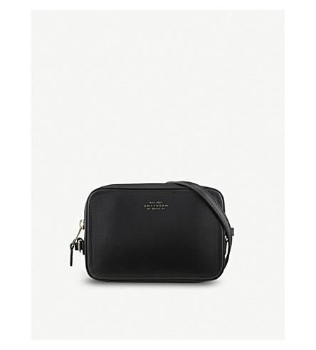 SMYTHSON Panama mini leather cross-body bag (Black