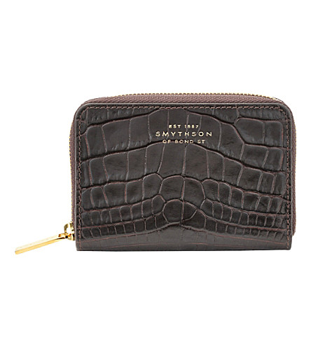 SMYTHSON Mara leather coin purse