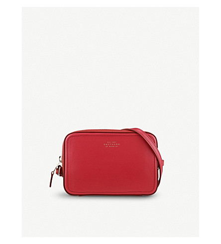 SMYTHSON Panama mini leather crossbody bag (Red