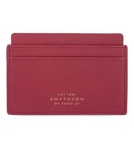 SMYTHSON 巴拿马十字纹皮革名片盒