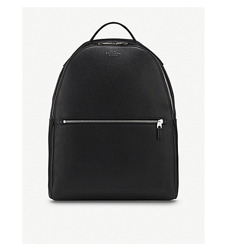 SMYTHSON Burlington zipped leather backpack (Black