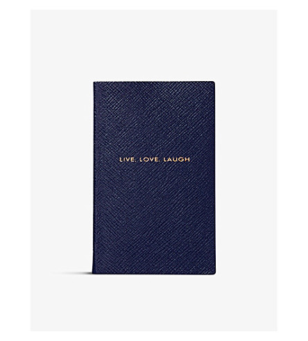SMYTHSON Panama Live Love Laugh notebook 14cm