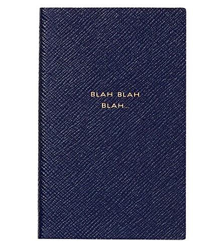 SMYTHSON Blah blah blah Panama notebook (Navy