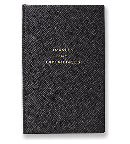 SMYTHSON Travel and Experiences panama notebook (Black