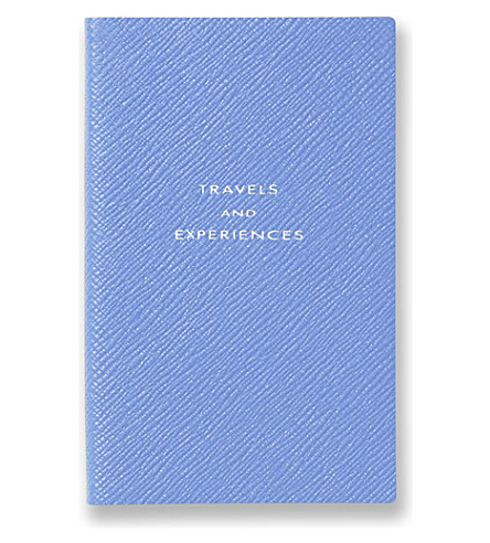 SMYTHSON Travel and Experiences panama notebook (Nile+blue