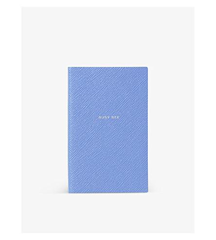 SMYTHSON Busy Bee panama notebook (Nile+blue