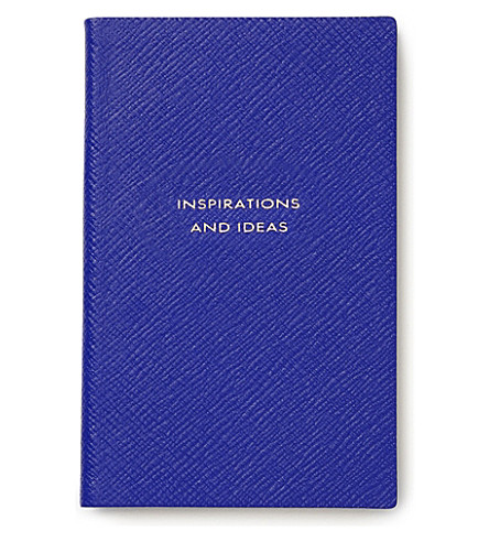 SMYTHSON Inspirations and ideas panama leather notebook (Cobalt
