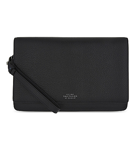 SMYTHSON Burlington 粒面皮革 pouchette