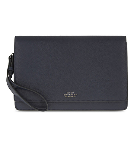 SMYTHSON Burlington leather pochette