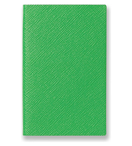 SMYTHSON Panama notebook (Emerald+green