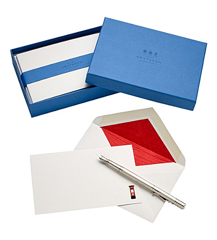 SMYTHSON British Postbox correspondence cards (White