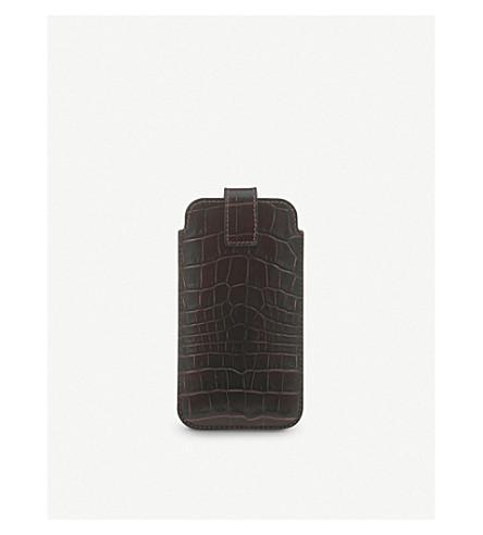 SMYTHSON Mara iPhone 7 crocodile-embossed leather case (Brown