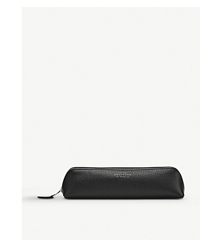 SMYTHSON Burlington leather pencil case (Black