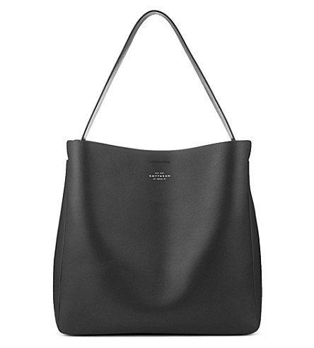 SMYTHSON Compton leather hobo bag (Black
