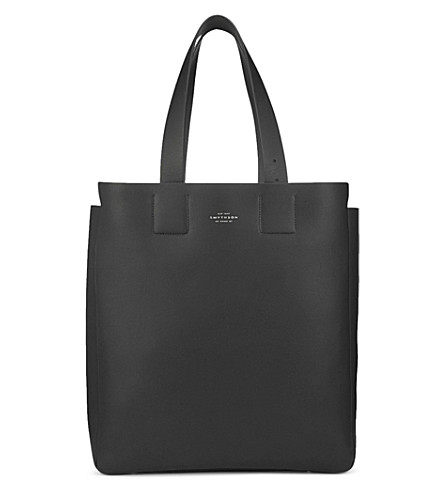 SMYTHSON Compton leather tote bag (Black