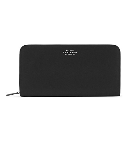 SMYTHSON Compton leather purse (Black