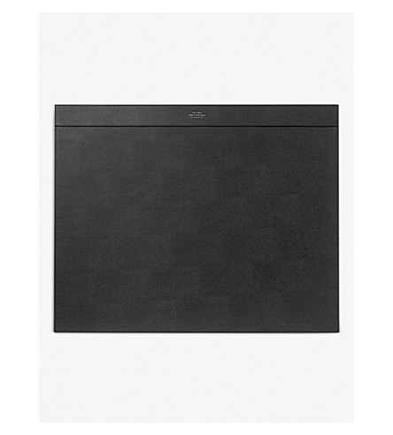 SMYTHSON Grosvenor leather desk blotter (Black