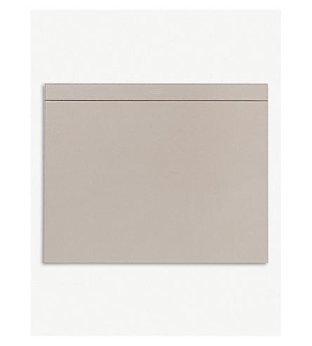 SMYTHSON Grosvenor leather desk blotter (Dove+grey