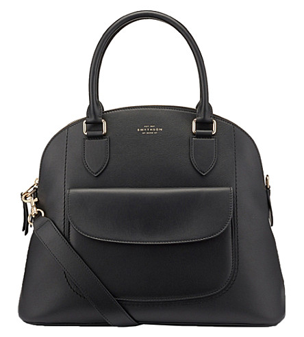 SMYTHSON Connaught Bugatti calf leather bag (Black
