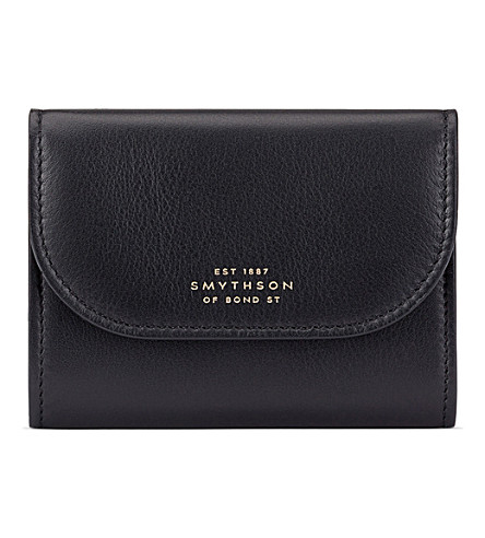 SMYTHSON Connaught calf leather coin purse (Black