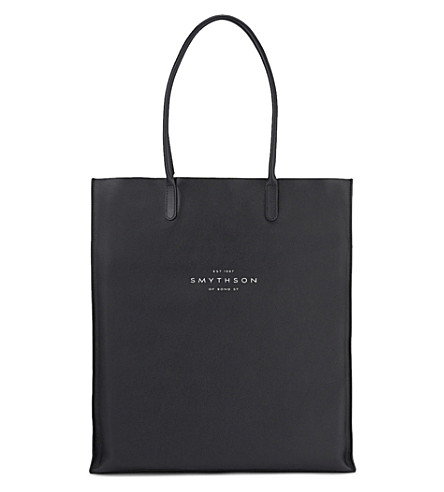 SMYTHSON Kingly North leather tote (Black