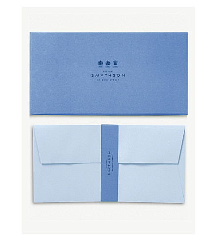 SMYTHSON Bond street blue envelopes pack of 25 (Pale+blue