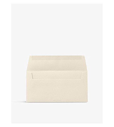 SMYTHSON Watermarked 25 wove envelopes (Cream