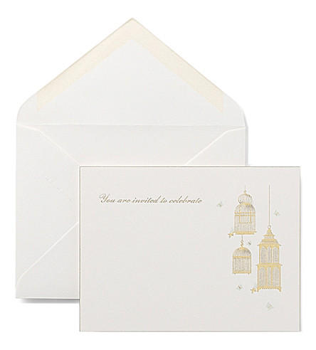 SMYTHSON Party card invites (White