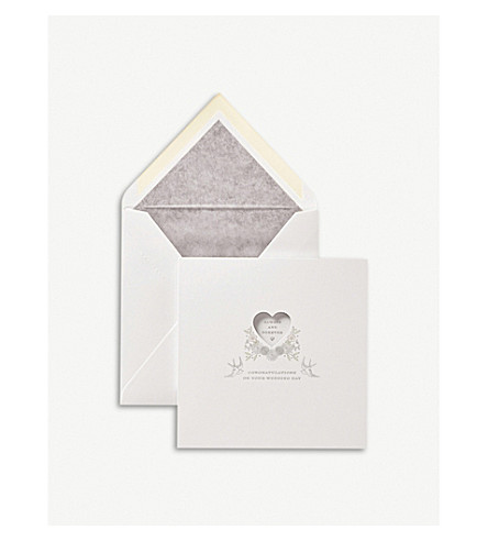 SMYTHSON Always and Forever wedding card (White