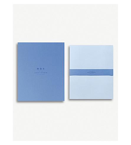 SMYTHSON Bond Street blue A4 writing paper box of 50 (Pale+blue