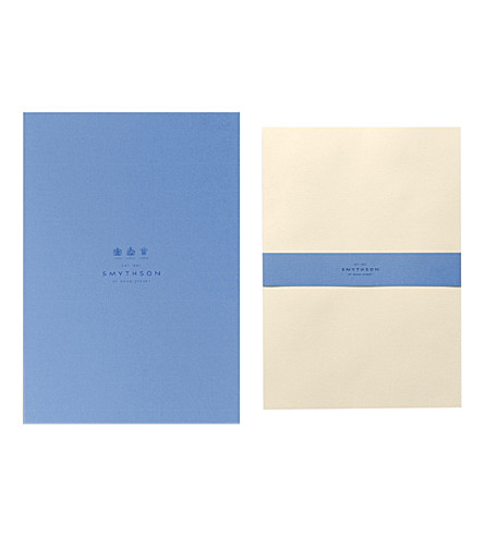 SMYTHSON Watermarked A4 wove writing paper (Cream