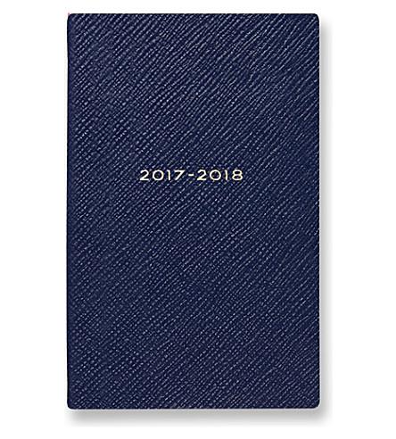SMYTHSON 2017/18 mid-year panama diary (Navy