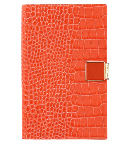 SMYTHSON Panama 2017/18 mid-year leather diary (Poppy