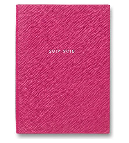 SMYTHSON 2017/18 mid-year soho diary (Fuchsia