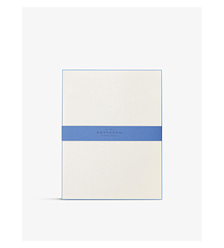 SMYTHSON Bordered Kings writing paper (Nile+blue