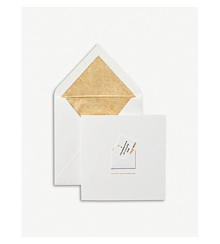 SMYTHSON Anniversary envelope card (White