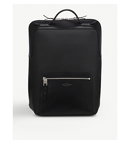 SMYTHSON Greenwich large leather backpack (Black
