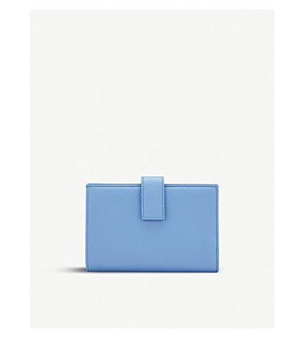SMYTHSON Panama leather small continental purse (Nile+blue