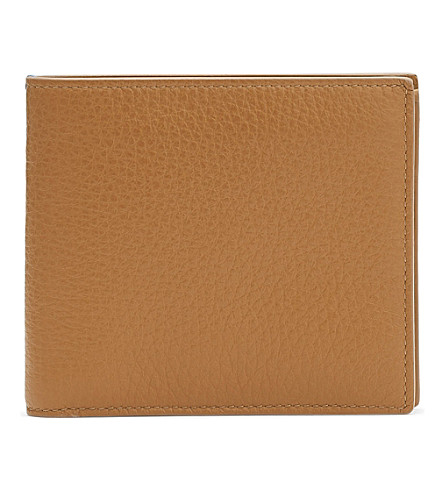SMYTHSON Burlington leather six card wallet (Imperial+yellow