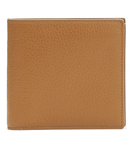 SMYTHSON Burlington leather eight card wallet (Imperial+yellow