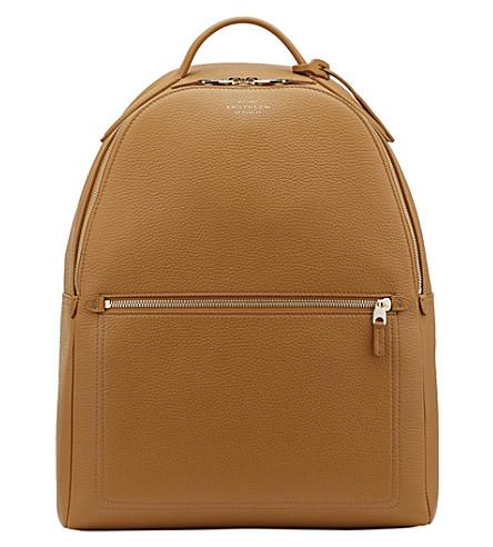 SMYTHSON Burlington deerskin leather backpack (Imperial+yellow