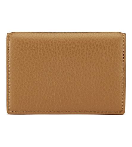 SMYTHSON Burlington leather card case (Imperial+yellow