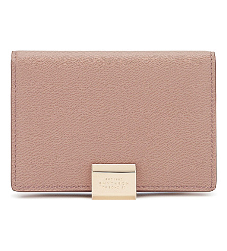 Smythson grosvenor business and credit card case selfridges smythson grosvenor business and credit card case oyster colourmoves